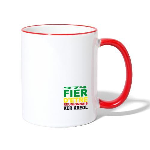 Logo fier d'etre kreol 974 ker kreol - Rastafari - Mug contrasté