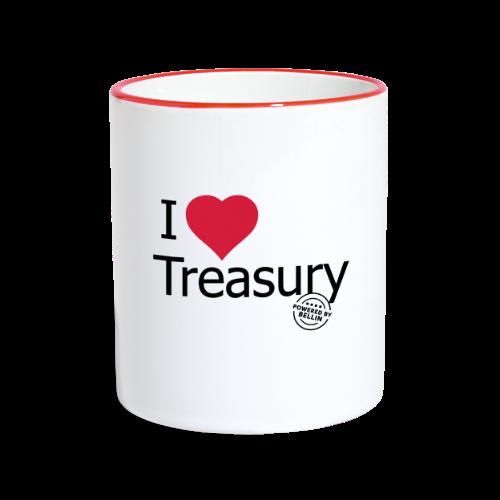 I LOVE TREASURY - Contrasting Mug