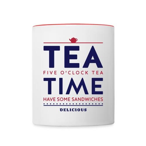 Tea Time - Tasse zweifarbig