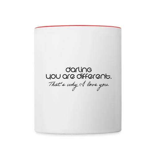 Romantisch - Tasse zweifarbig