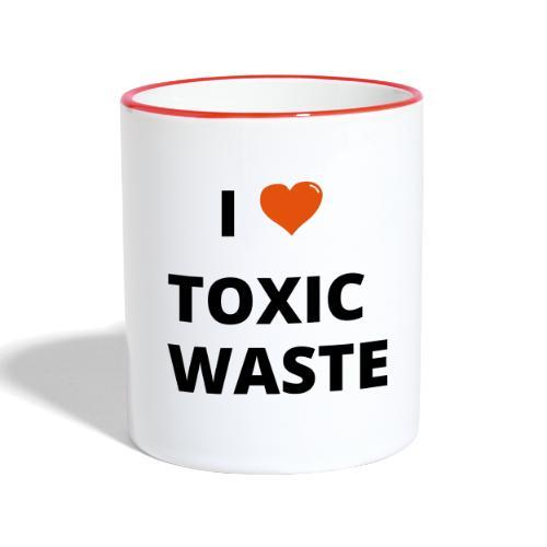 real genius i heart toxic waste - Contrasting Mug