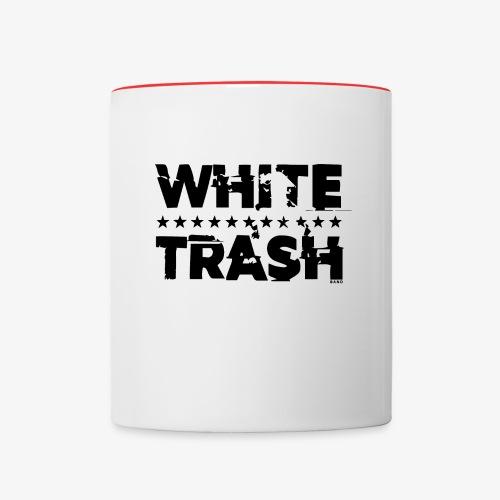 White Trash Svart - Tvåfärgad mugg