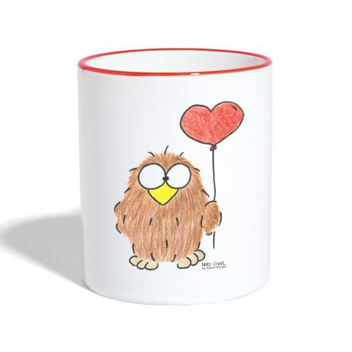 Niki Owl Amor/Love - Contrasting Mug