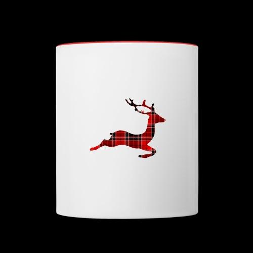 noël cerf écossais - Mug contrasté