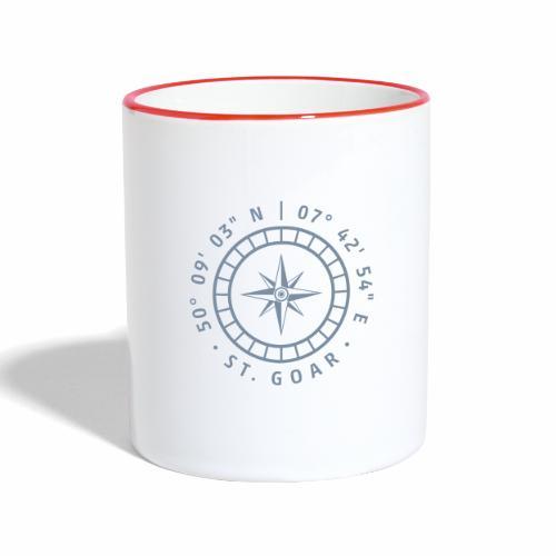 Kompass St. Goar - Tasse zweifarbig