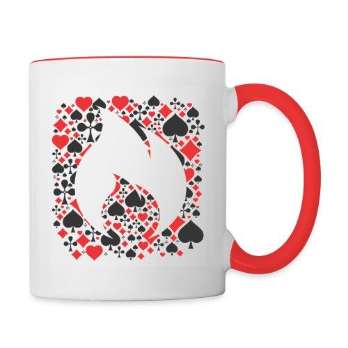 card symbol front - Tasse zweifarbig