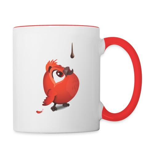 fluffy red - Tasse zweifarbig