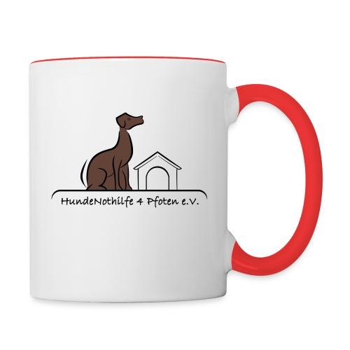 HundeNothilfe Logo - Tasse zweifarbig