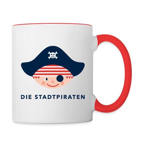SP Logo Pirat NEU - Tasse zweifarbig