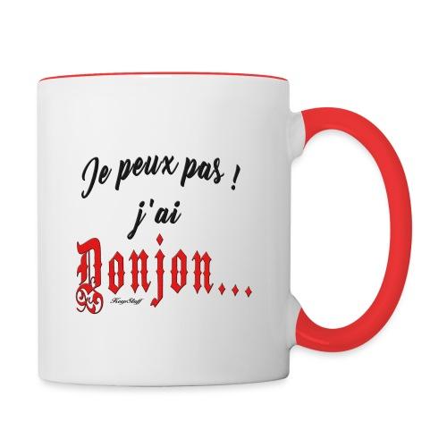 Je-peux-pas-j-ai-donjon-rouge-et-noir - Mug contrasté