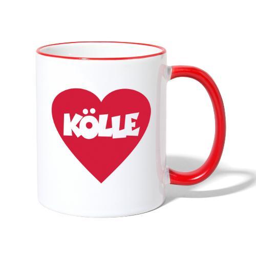 I Love Kölle - Ein Herz für Köln - Tasse zweifarbig