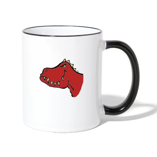 T Rex, Red Dragon - Contrasting Mug