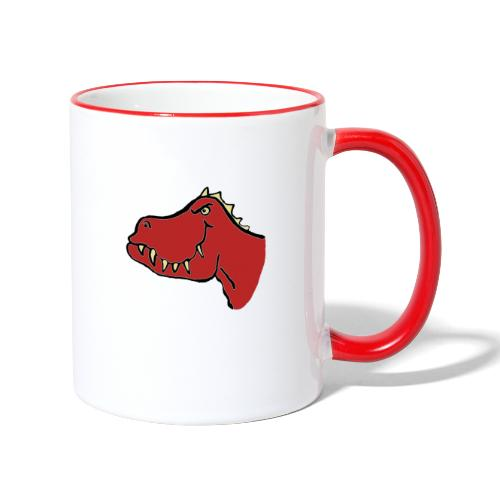 T Rex, Red Dragon - Contrasting Mug