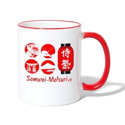 Samurai Matsuri Festival - Tasse zweifarbig