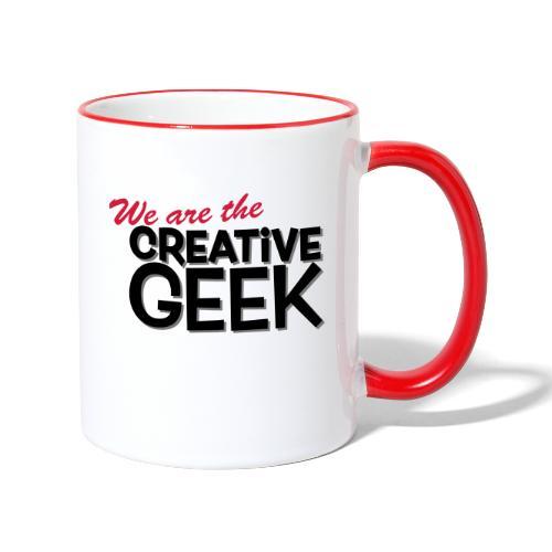 We are the Creative Geek - Tvåfärgad mugg