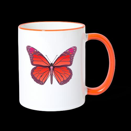 D28 monarch butterfly red lajarindream 4500px - Taza en dos colores