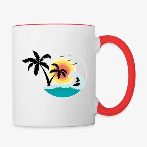 Surfing in paradise - Tasse zweifarbig