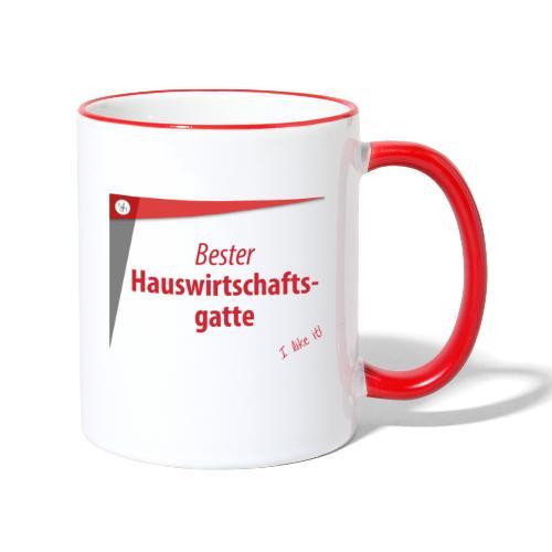 Für die bessere Hälfte! - Tasse zweifarbig