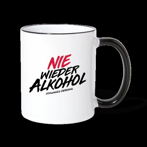 Nie wieder Alkohol - Tasse zweifarbig