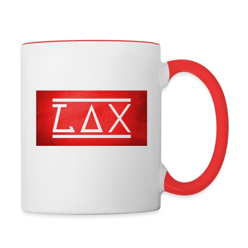 LAX LOGO COLOR RED/WHITE - Tasse zweifarbig