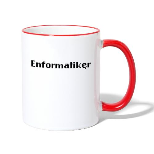 Enformatiker- Cursor - Tasse zweifarbig