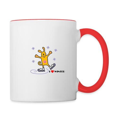 I_LOVE_WINTER - Mug contrasté