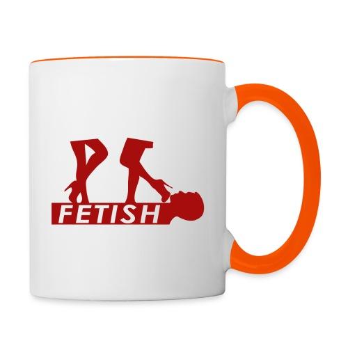 fetish trampling rouge png - Mug contrasté