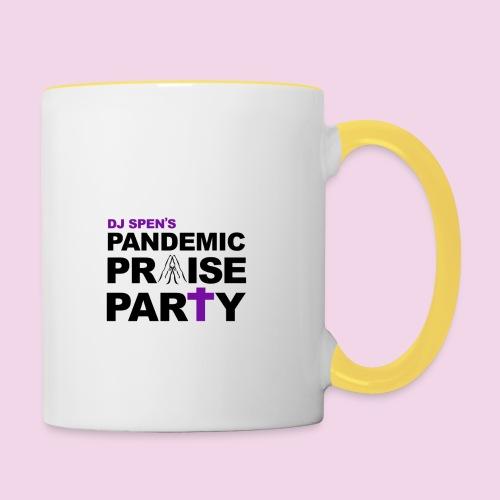 Pandemic Praise Party Logo - Contrasting Mug