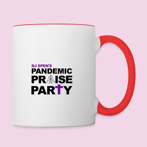 Pandemic Praise Party Logo - Contrasting Mug