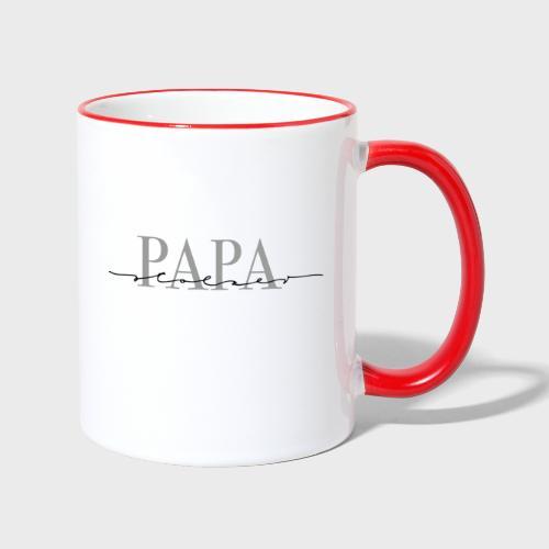 Stolzer Papa – Papa Kollektion - Tasse zweifarbig