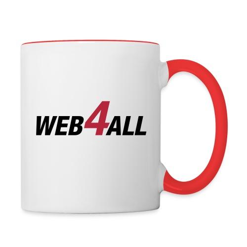 logo-vectoriel_noir - Mug contrasté