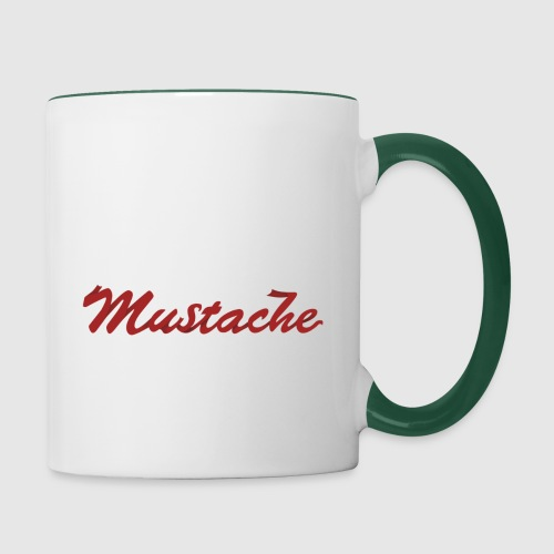 Red Mustache Lettering - Contrasting Mug