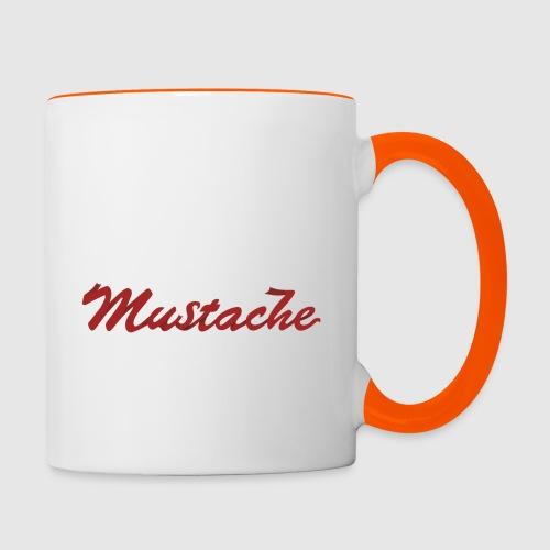Red Mustache Lettering - Contrasting Mug