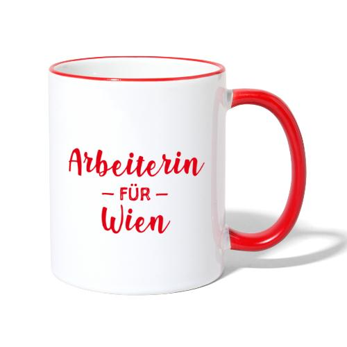 Arbeiterin für Wien - Tasse zweifarbig