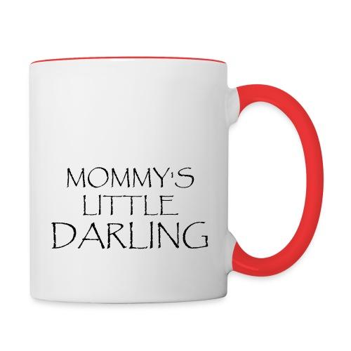 MOMMY'S LITTLE DARLING - Tasse zweifarbig
