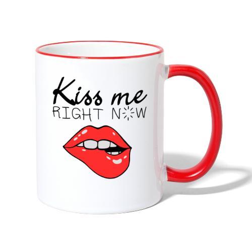 Kiss me right now / Embrasse-moi maintenant - Mug contrasté