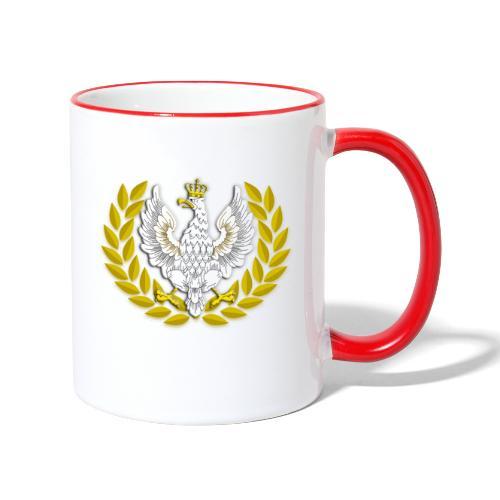 Koszulka patriotyczna Orzeł II RP Wieniec - Kubek dwukolorowy