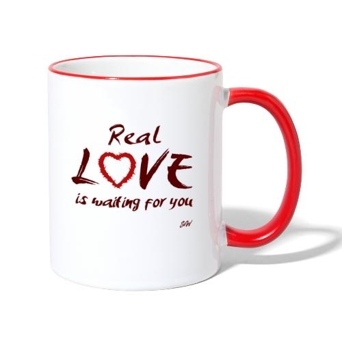Real love is waiting for you - Mug contrasté
