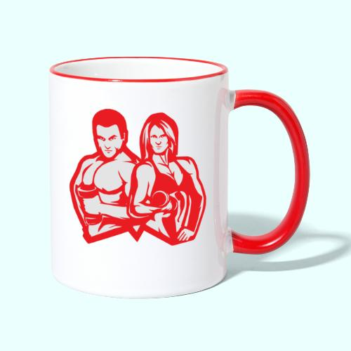 Man & woman NLB - Kaksivärinen muki