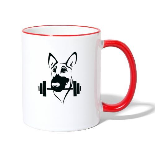Weightlifting Doggo - Contrasting Mug