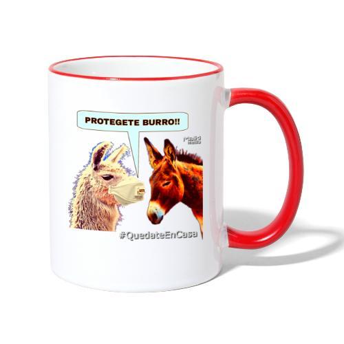 PROTEGETE BURRO - Contrasting Mug