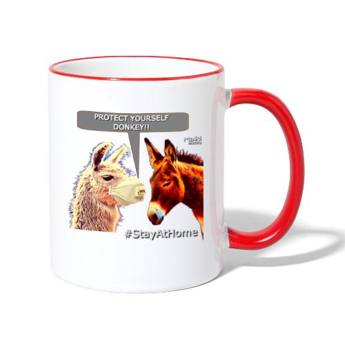 Protect Yourself Donkey - Coronavirus - Mug contrasté