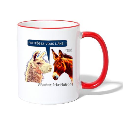 PROTEGEZ-VOUS L'ÂNE !! - Coronavirus - Mug contrasté
