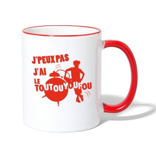 JPEUXPAS ROUGE - Mug contrasté
