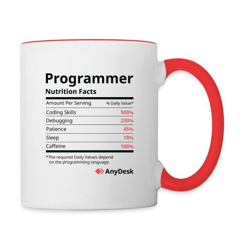 Programmer Nutrition Facts AnyDesk - Tasse zweifarbig