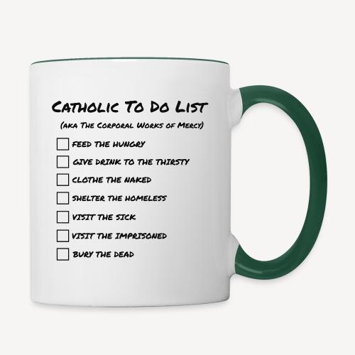 CATHOLIC TO DO LIST - Contrasting Mug