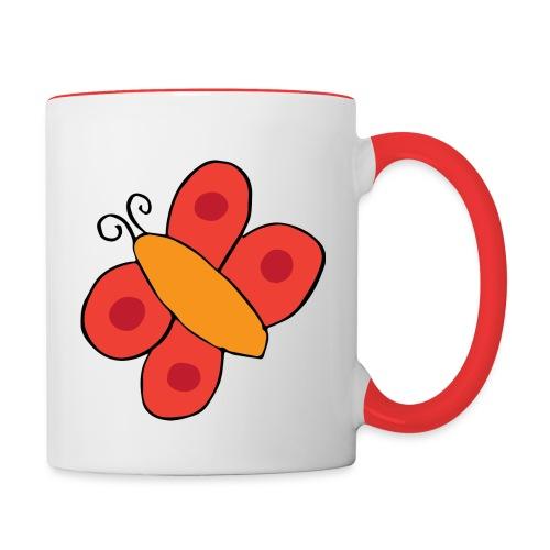 Papillon png - Mug contrasté