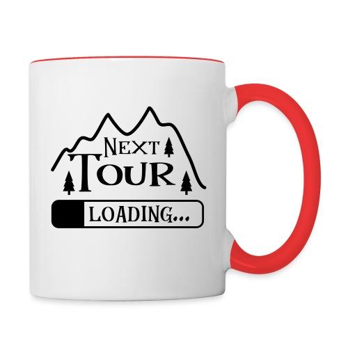 Wandern Klettern Bergsteigen Tour Laden Berg Natur - Tasse zweifarbig