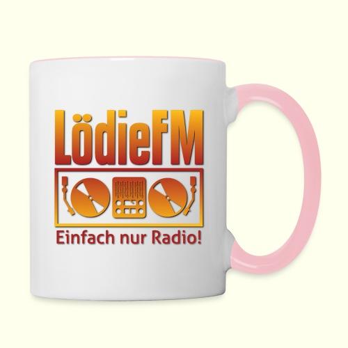 LödieFM Logo big - Tasse zweifarbig