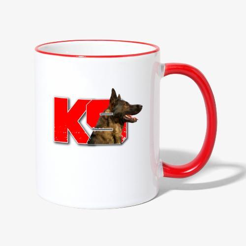 malinois k-9 - Mug contrasté